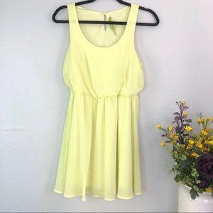 Alice + Olivia sunshine yellow layered sheer dress